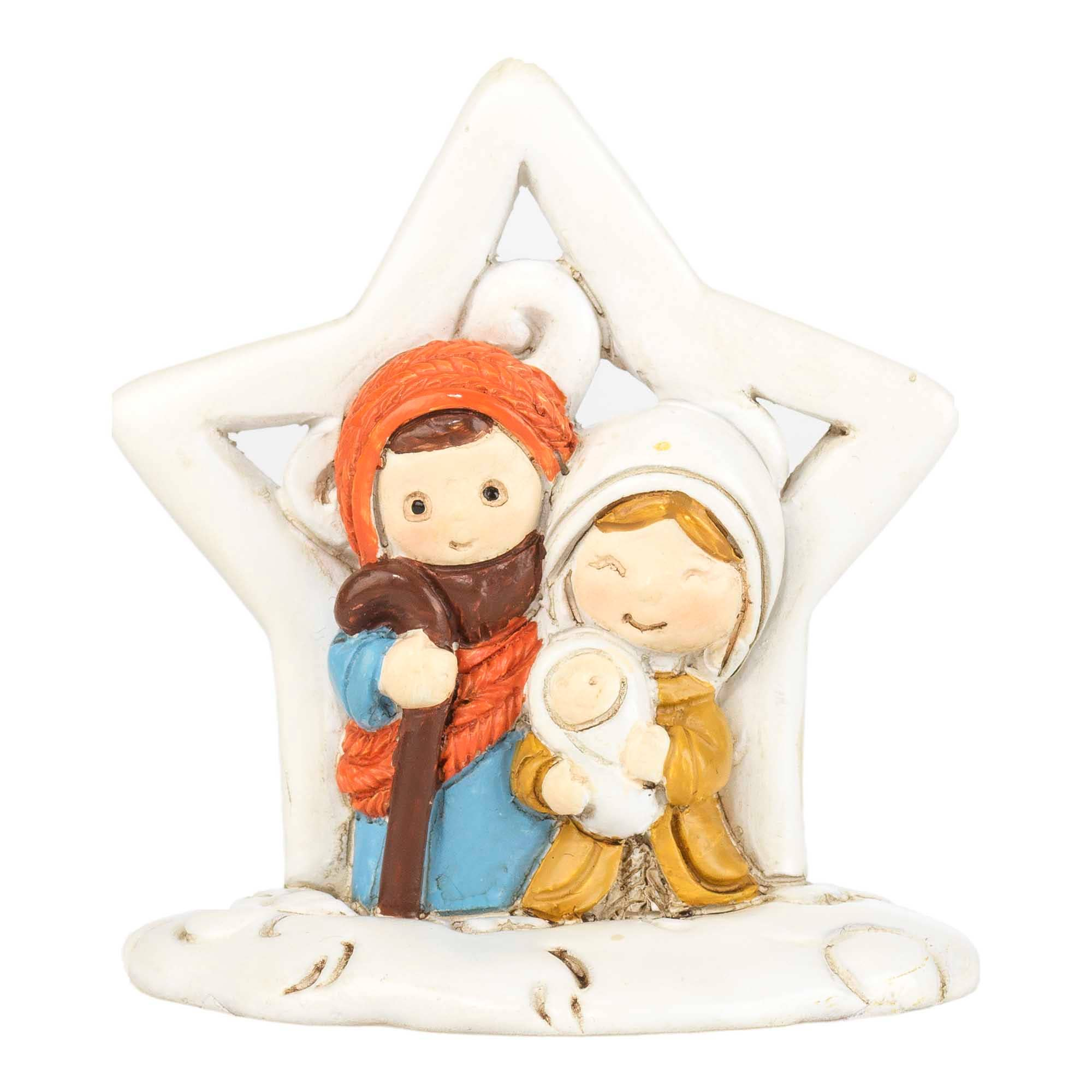 Dicksons Whimsical Holy Family with Creche Scene Resin 3.5 Inch Christmas Nativity Water Globe