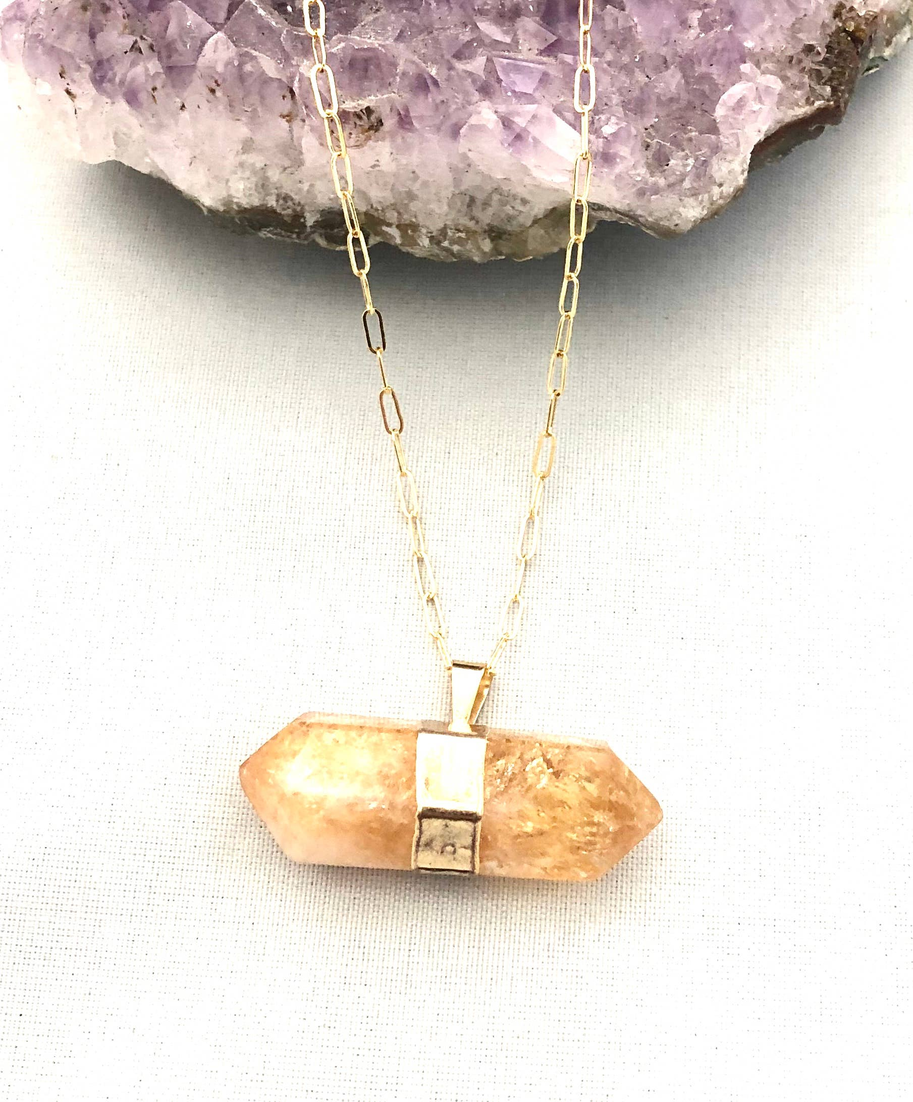 Large Rainbow Fluorite Oval Double Bail Pendant with Electroplated SIlver Edge S-690