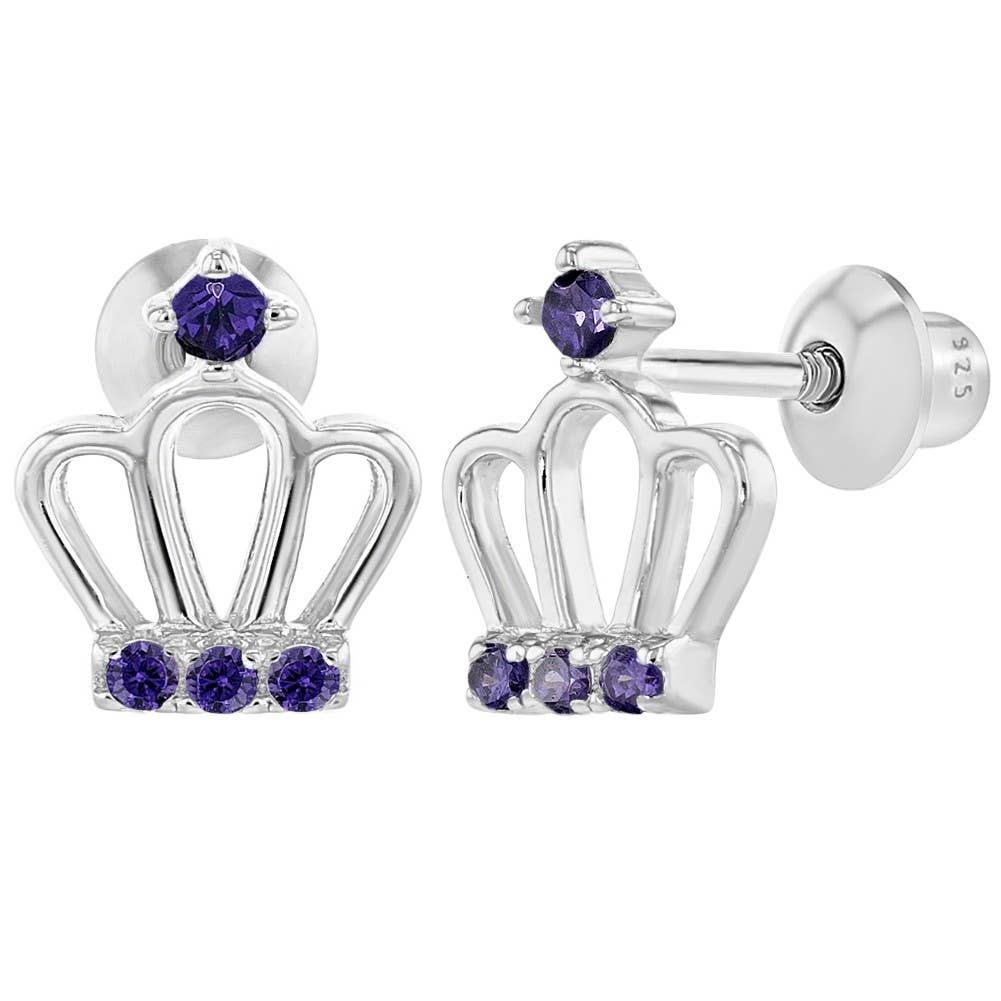 Girls Pot Of Tea Colorful Ear Studs 925 Sterling Silver