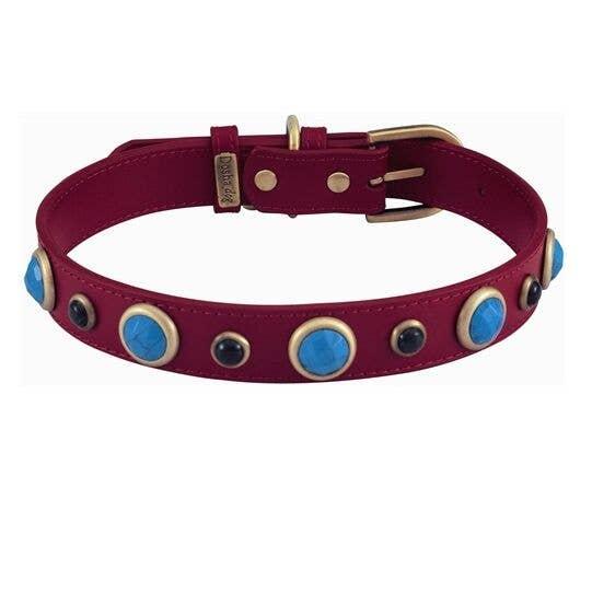 Purple Gem Dog Collar Glamour Dog Collar