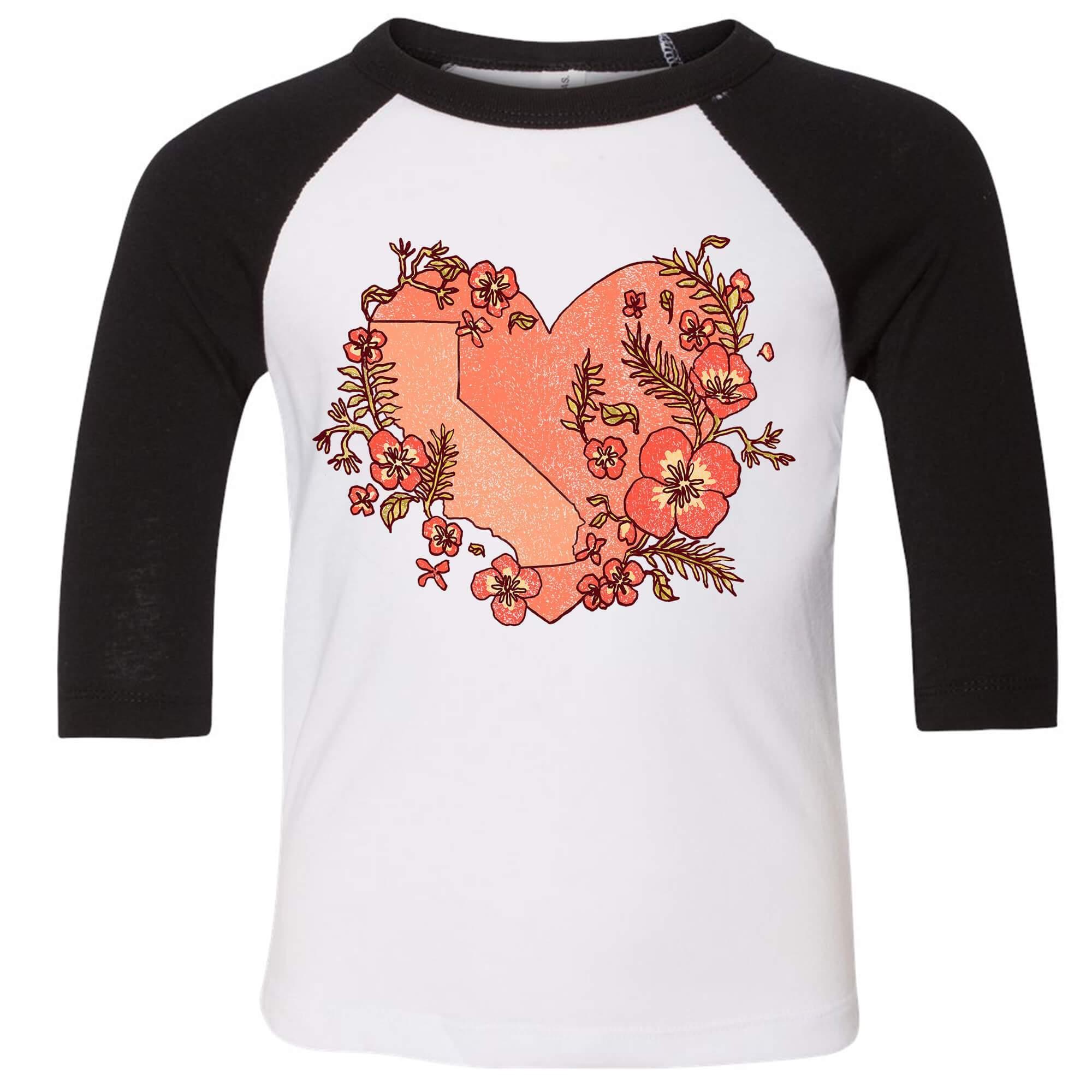 I Love Heart Persimmon Black Kids Sweatshirt