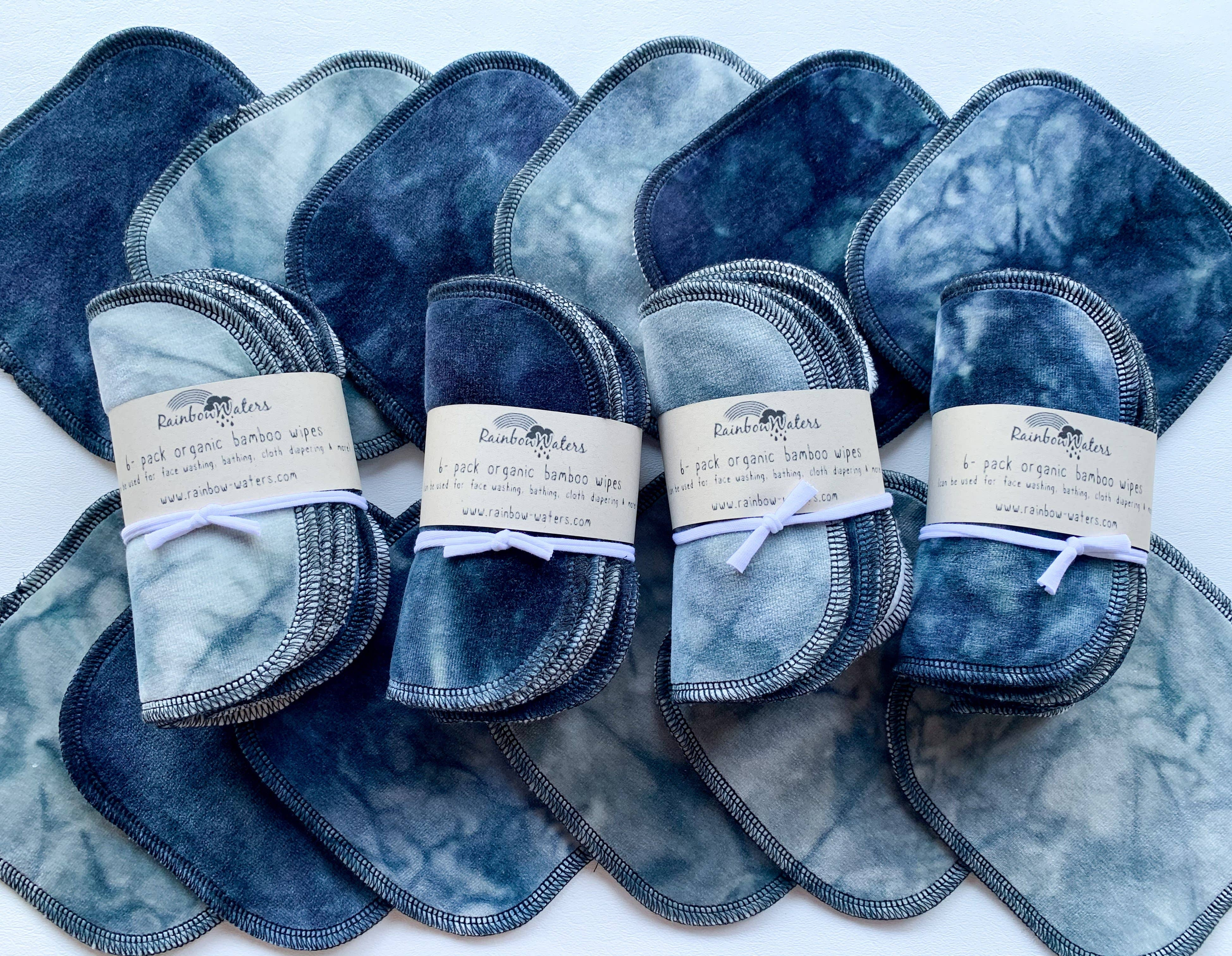 Handmade Organic Cotton Fleece Sweatshorts Organic Tea Tie Dyed