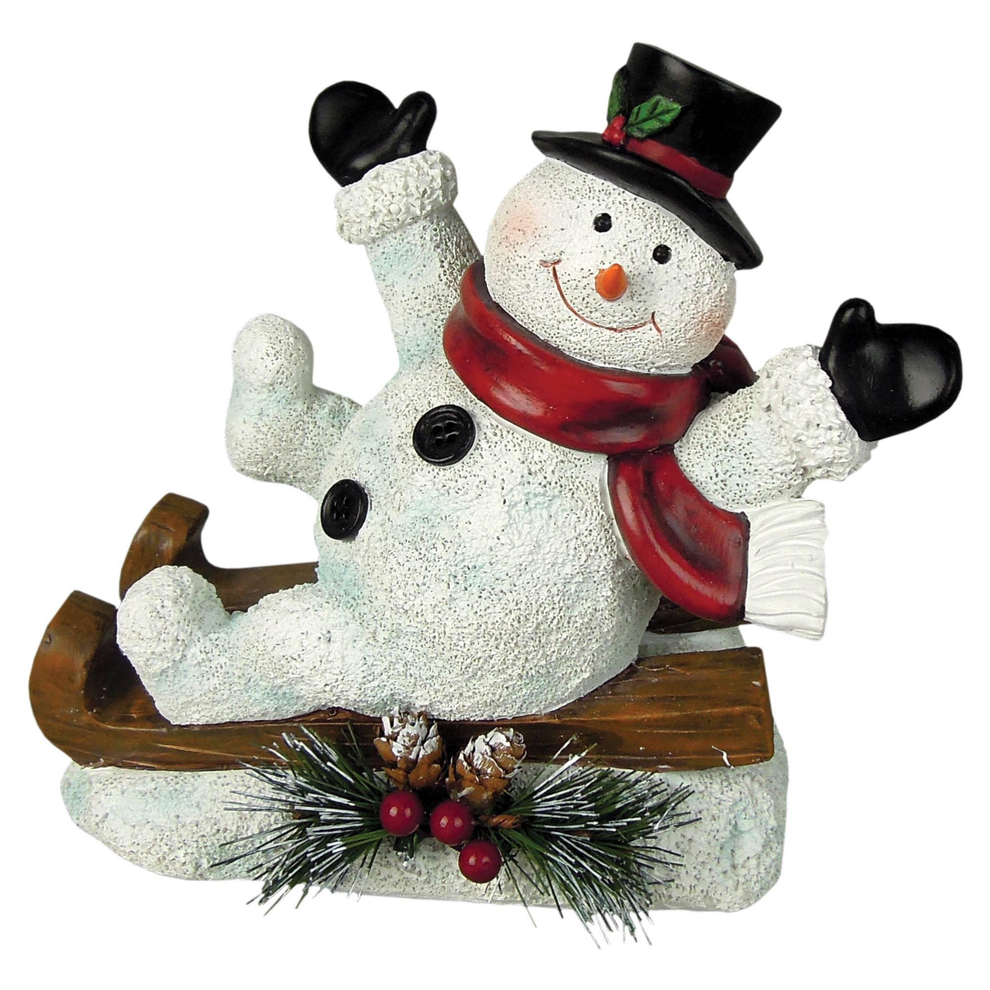Crystal Willie Joy Snowmen Christmas Tabletop Decoration