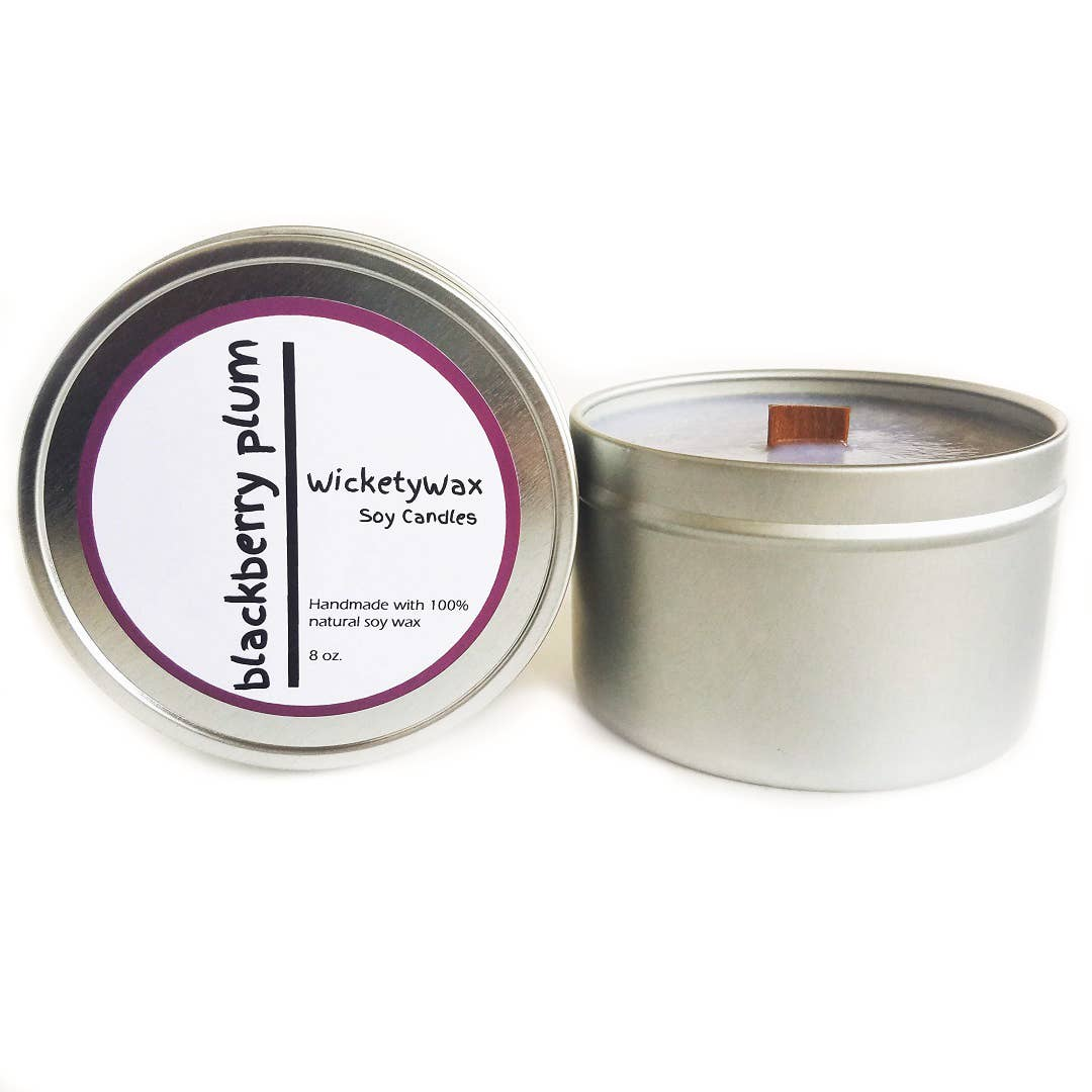 Clear 6-Ounce Worthy Promo NCAA Florida State Seminoles Vanilla 6 oz Soy Wax Candle with Quietly Crackling Wood Wick