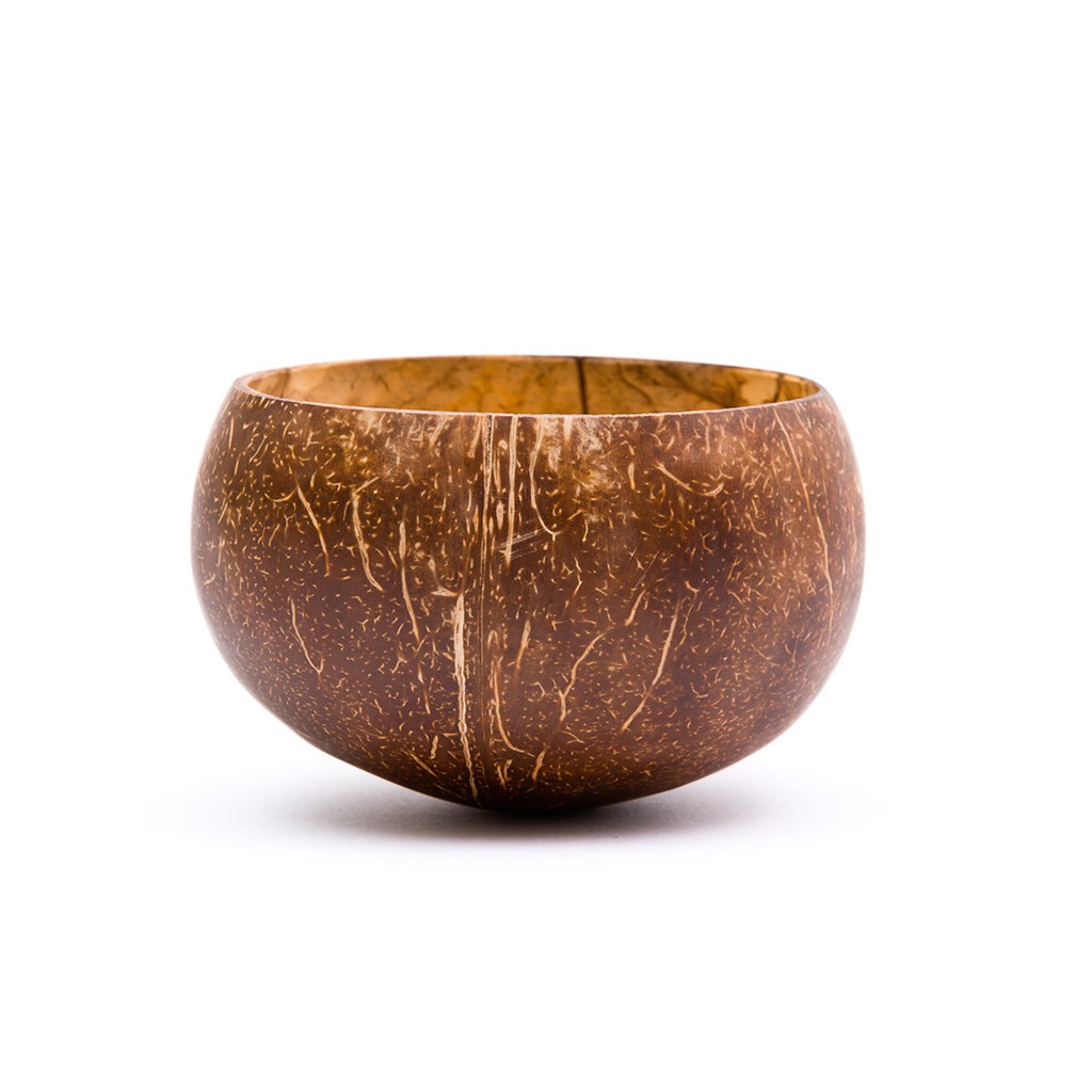 Organic Raw Original Coconut Shells Matching Food Desserts Beverages Bowls