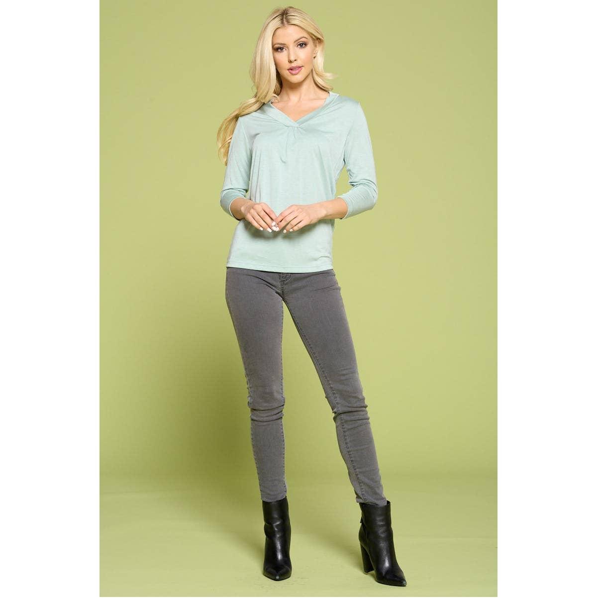 LK Luv Women/'s Long Sleeve Mini Tunic Sweat Dress Made in USA