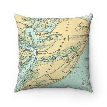 Hawaii Map Pillow Faire Com