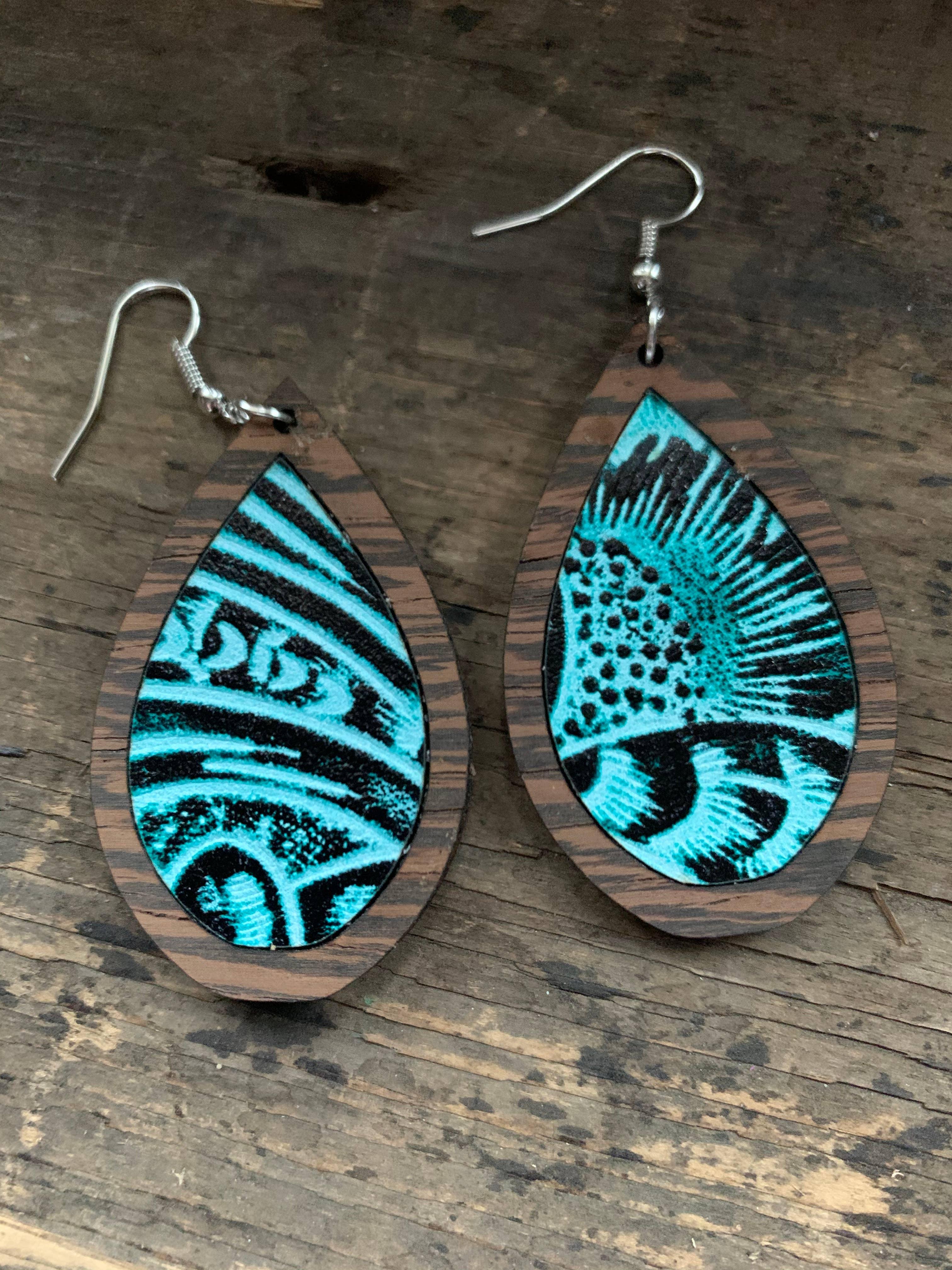 girl gift cork jewelry leather earrings stripe earrings round earrings cork earrings lightweight earring dangles boho earrings