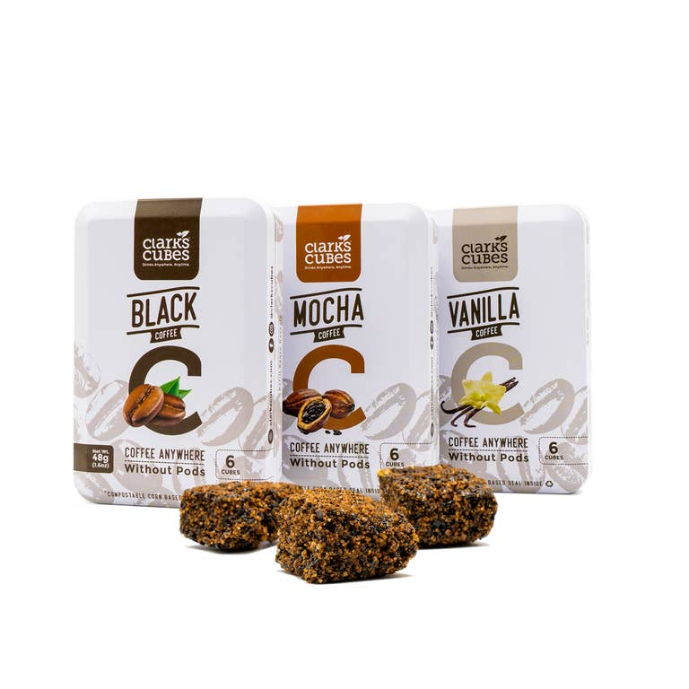 Clarks Coffee Cubes Mocha Travel Tin 6 Cubes Faire Com