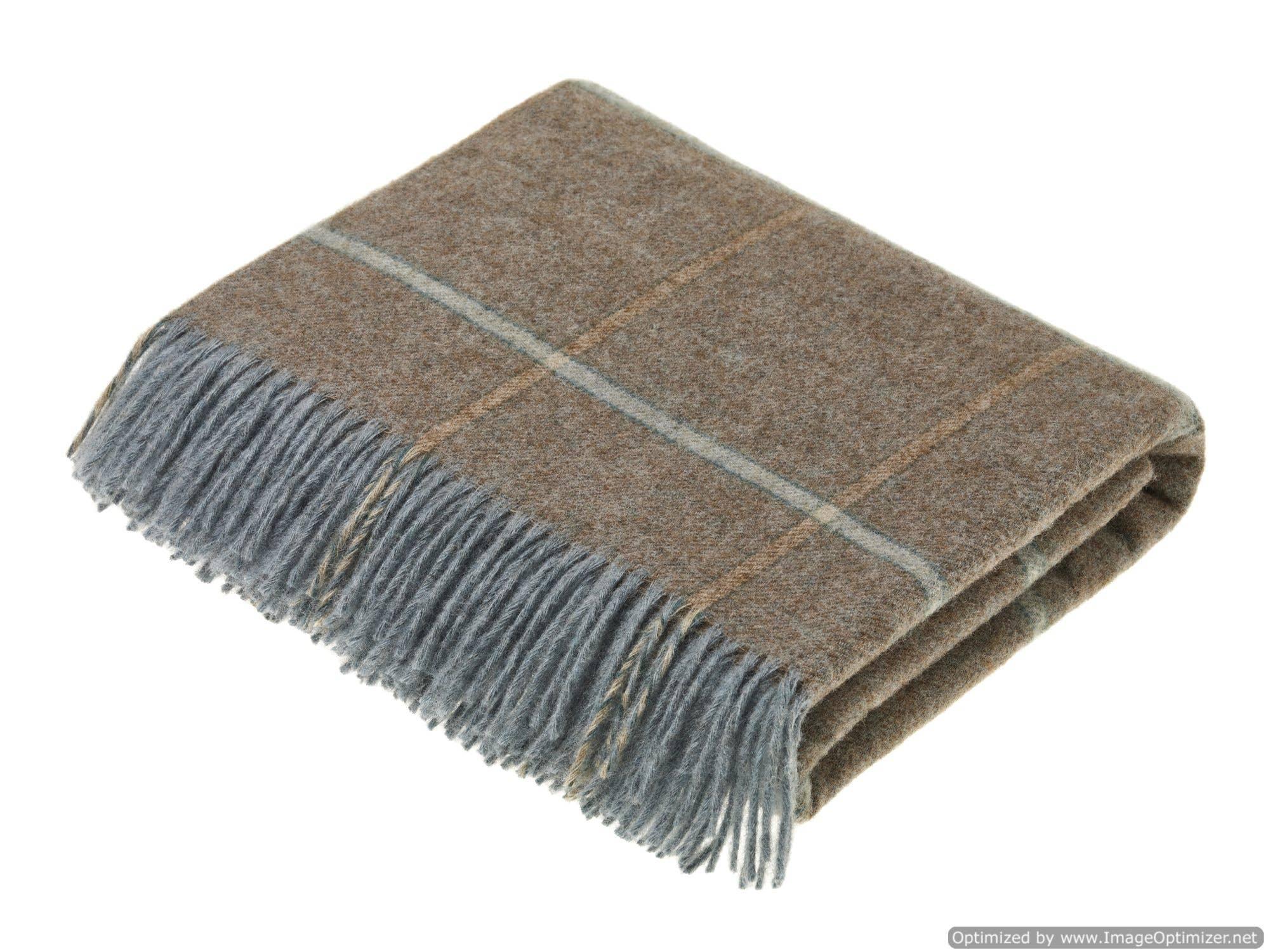 Throw Wrap Pure New Wool Shetland Tweed Made in Scotland Blanket