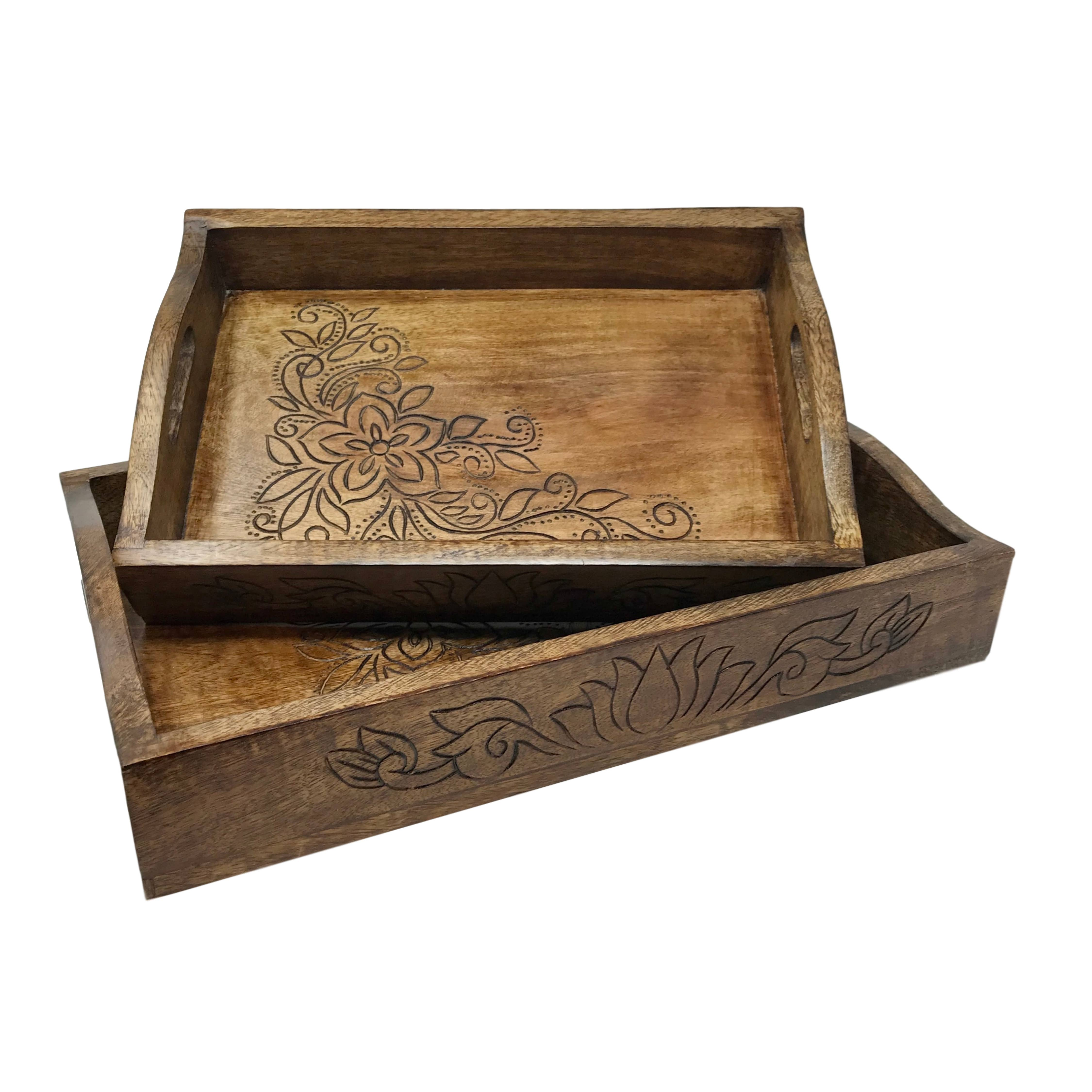 BambooResin Serving Trays