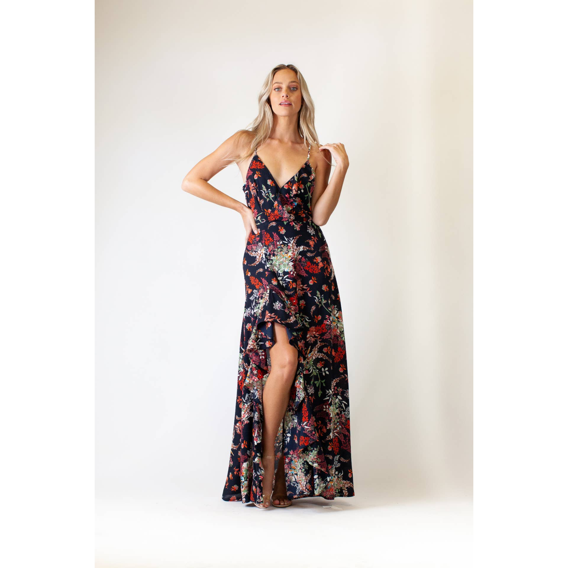 New With Tags Body Cover Strapless Chiffon Floral Dress S//M or M//L