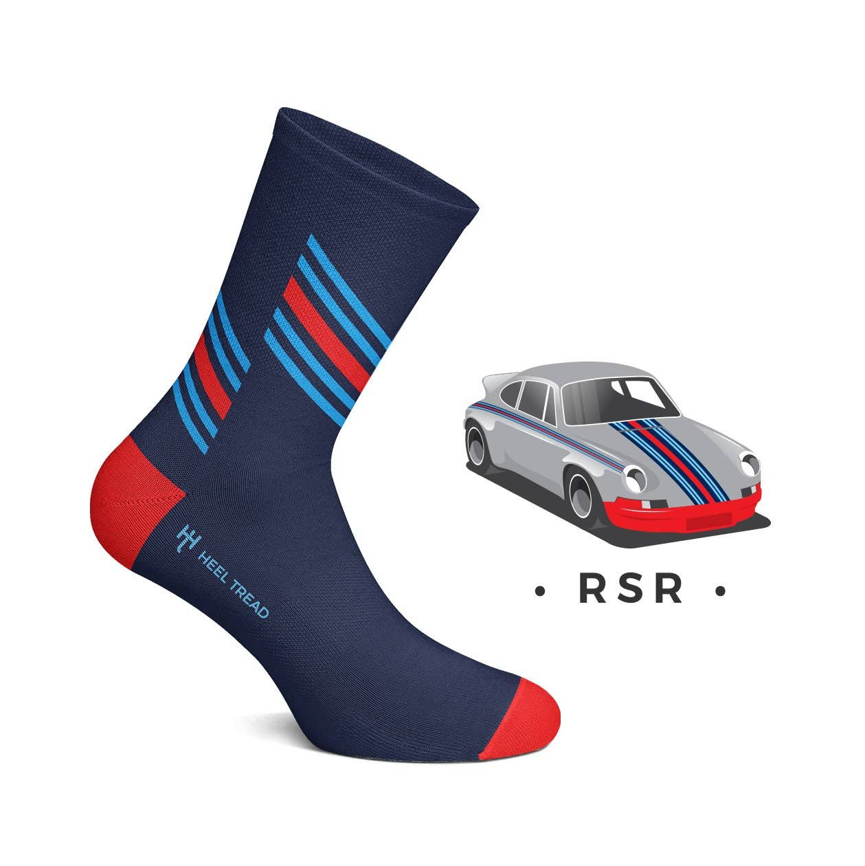 Id Rather be Driving my Car with Car Image Design Mens Black Cotton Rich Socks