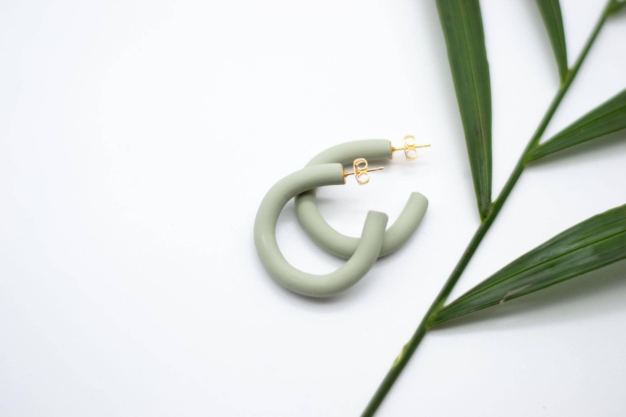 Polymer Clay Earrings Emma in Leopard Minis Dangle Earrings