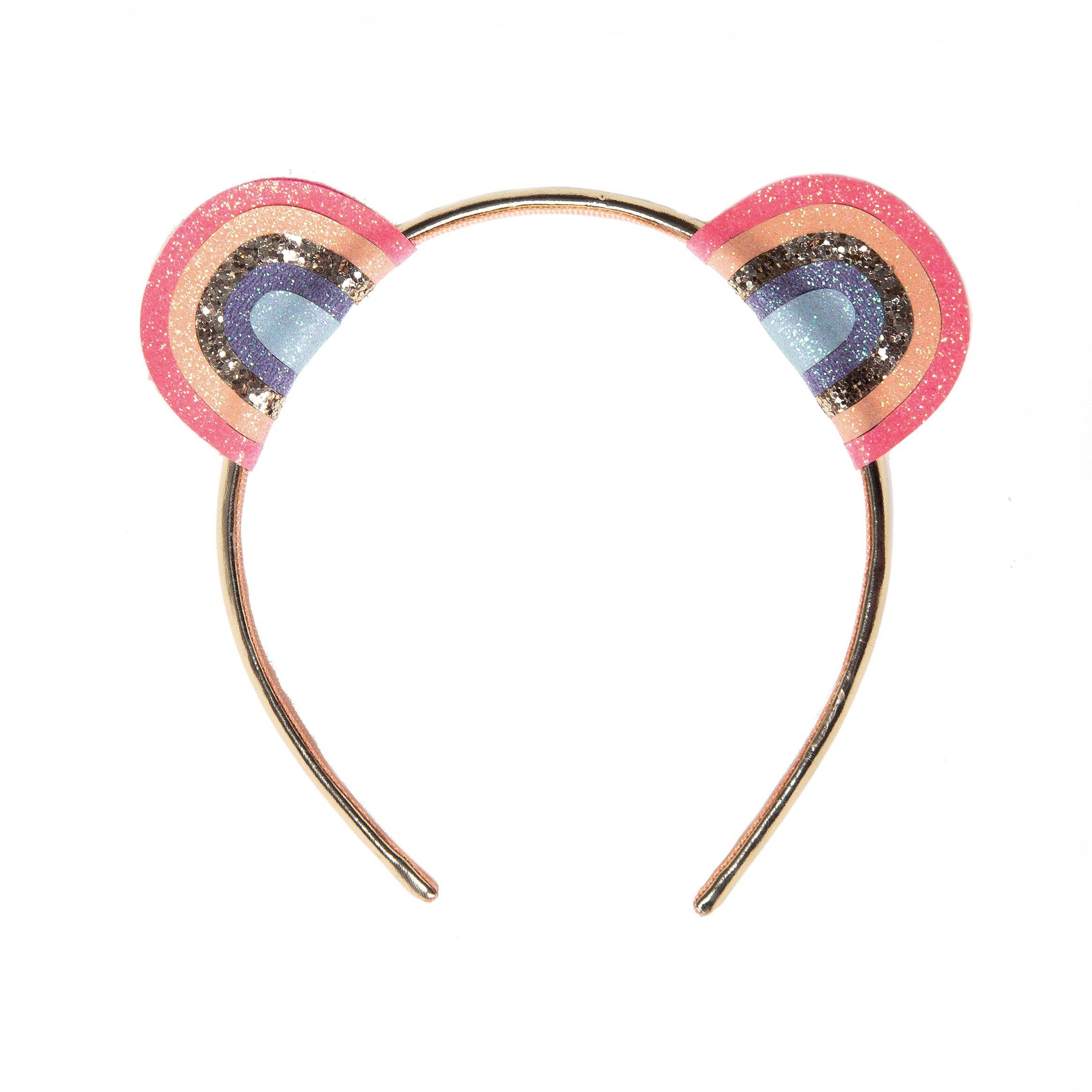 Cheetah Costume GLITTER HEADBAND Glittery Sparkly Stretch Headband Bling SPARKLE