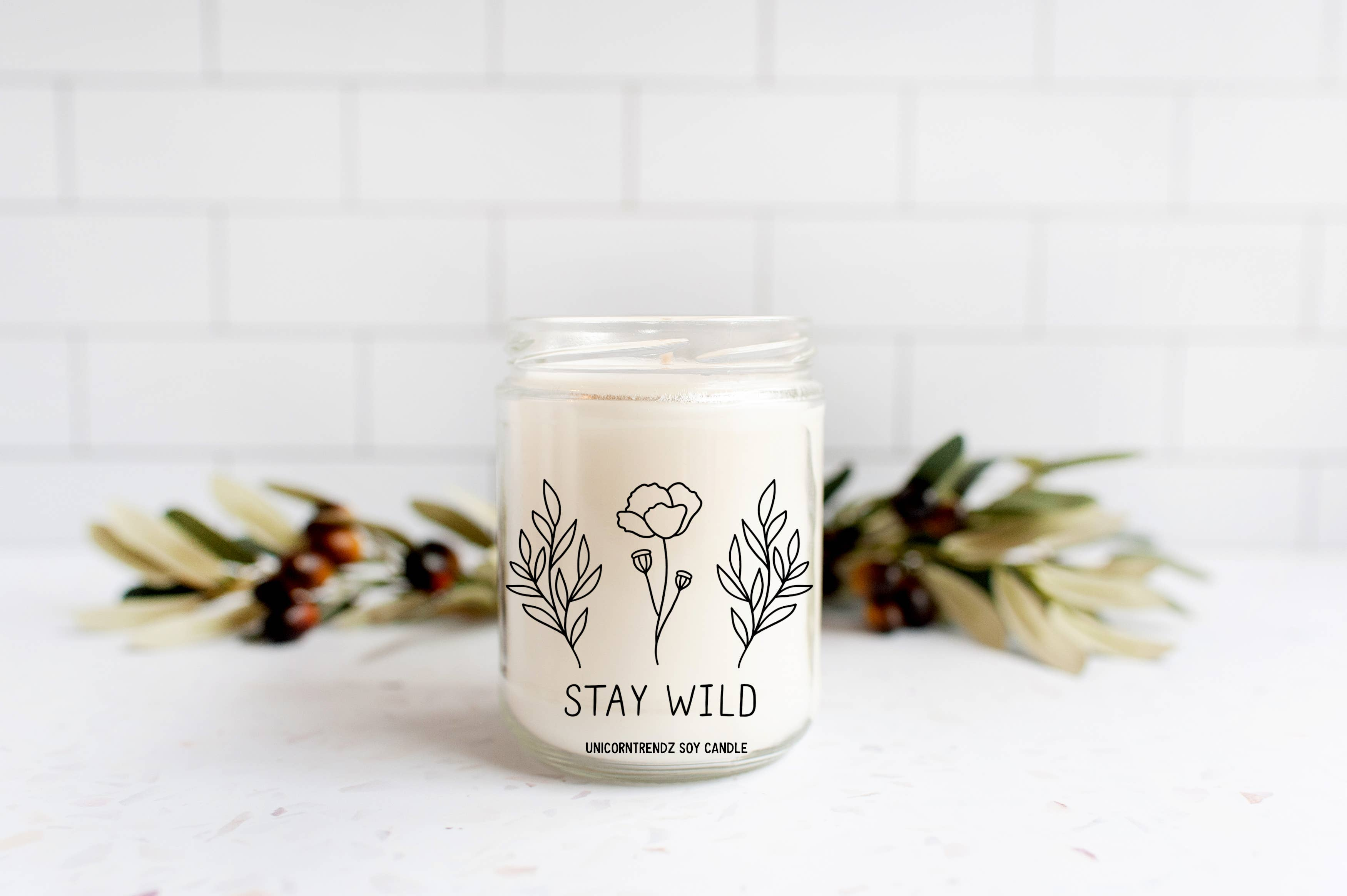 Best Friend Gift Gift Candle Handmade Soy Candle Soy Wax Candle Natural Essence Candle Stone Candle Natural Stone Candle Vegan Candle