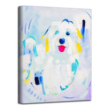 Black Lab Pet Canvas Wall Art Faire Com