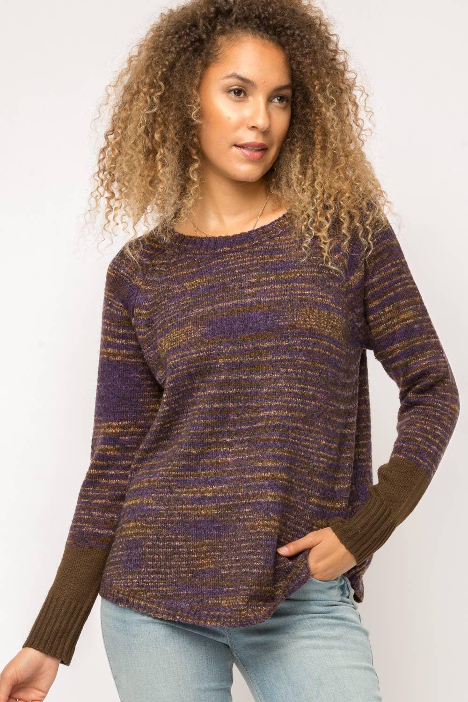 Vertical Mocha Long Sleeve V-Neck Knit Blend Men/'s Sweater NEW Large