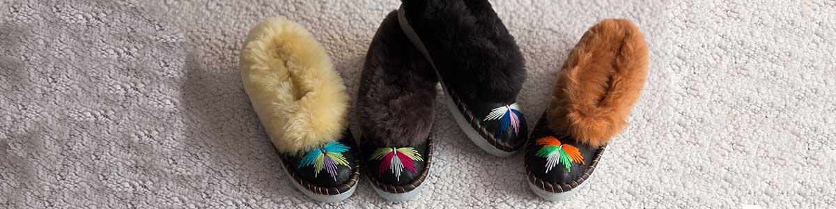 Women Original sheepskin Sheepers Slippers