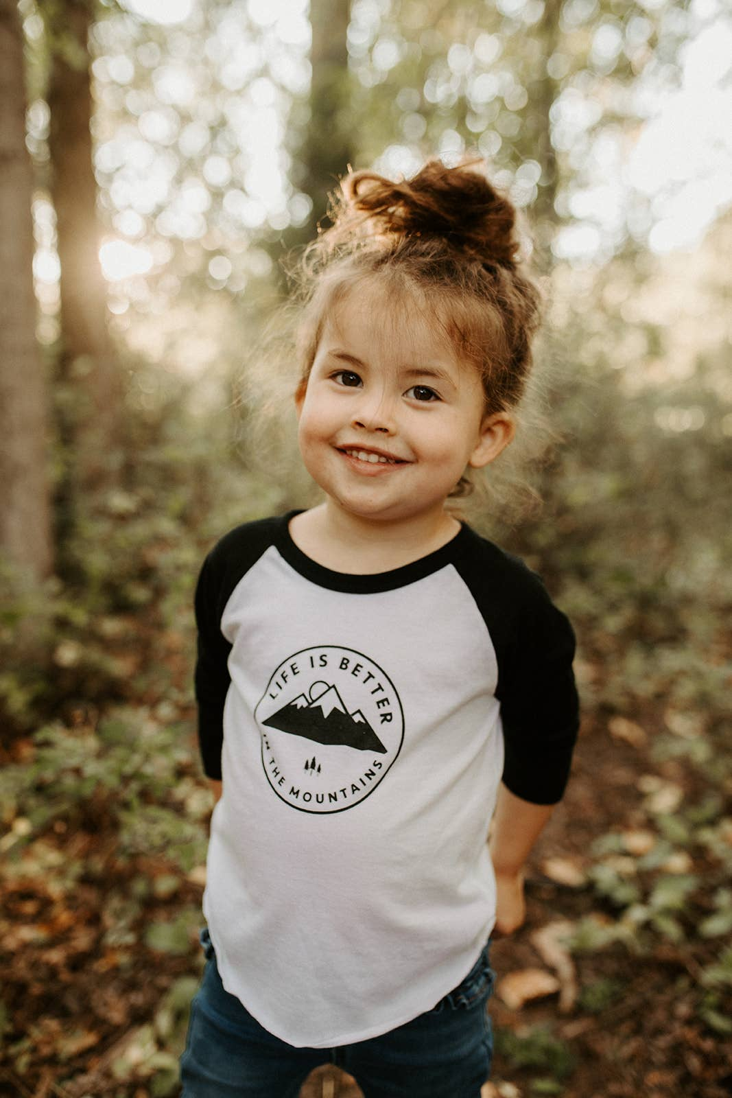 MY-Fish Black Raglan T-Shirts Short Sleeve Kahlo Sports Sweat Tee for Kids Boys Girls