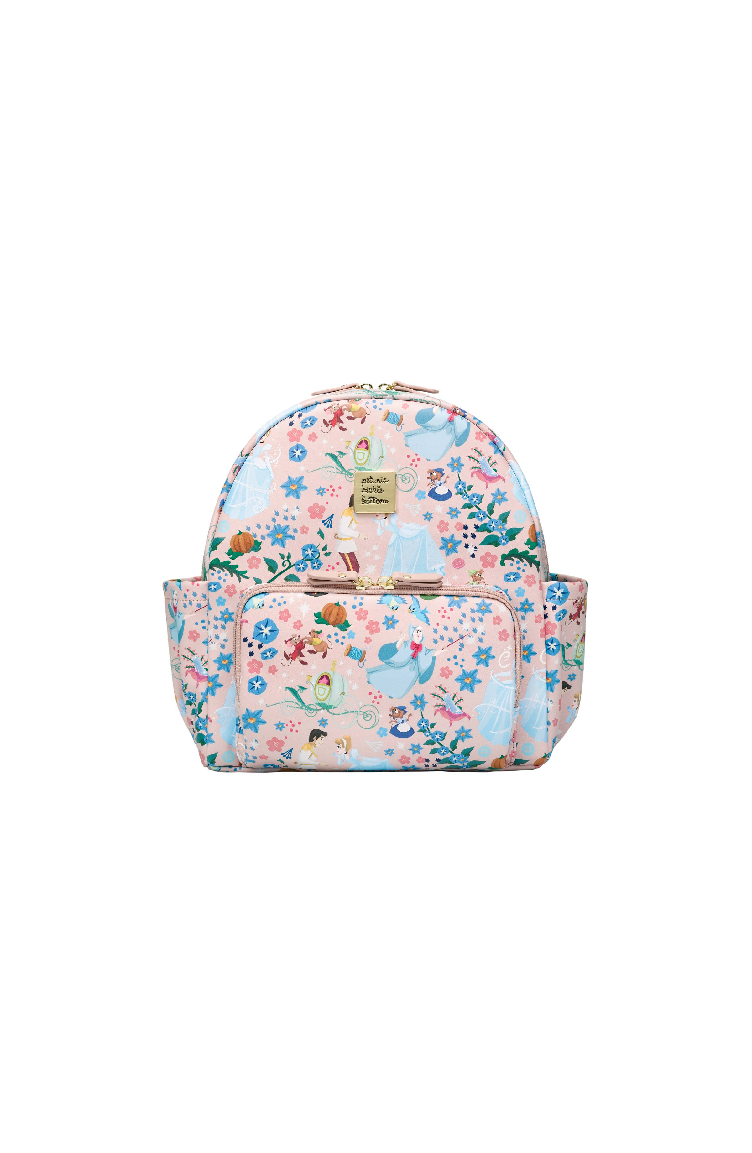 Handmade Backpack Drawstring Lighthouse Print Body with Exterior Pocket