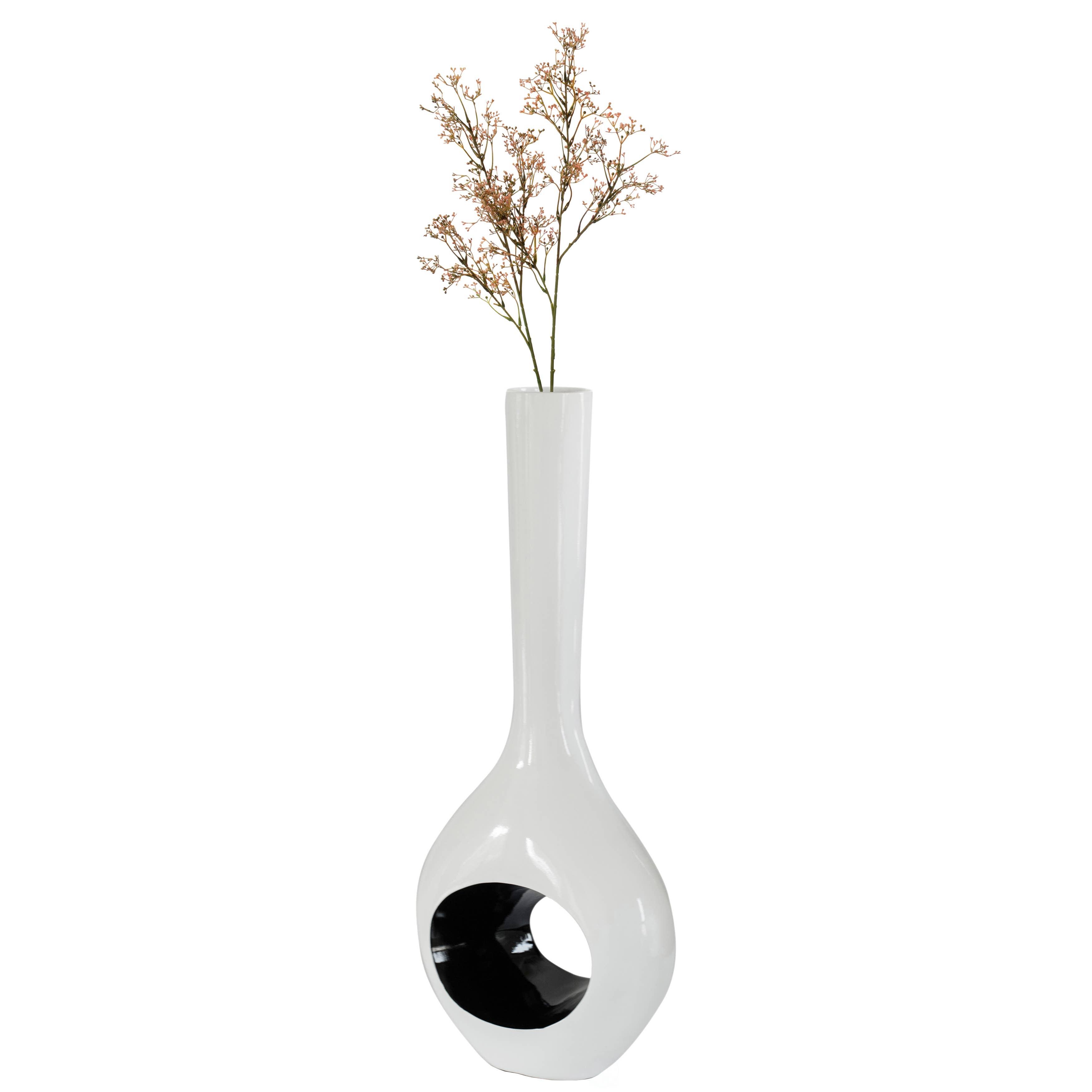 Gramercy Tall Black Hammered Vase