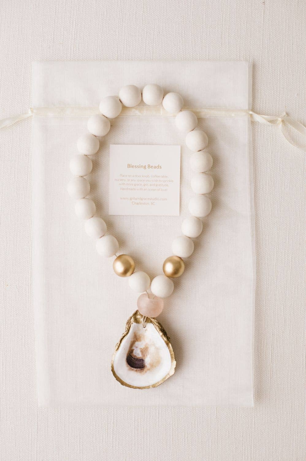 Blessing Beads; Gifts for Her; Wedding Favors; Oyster Craft