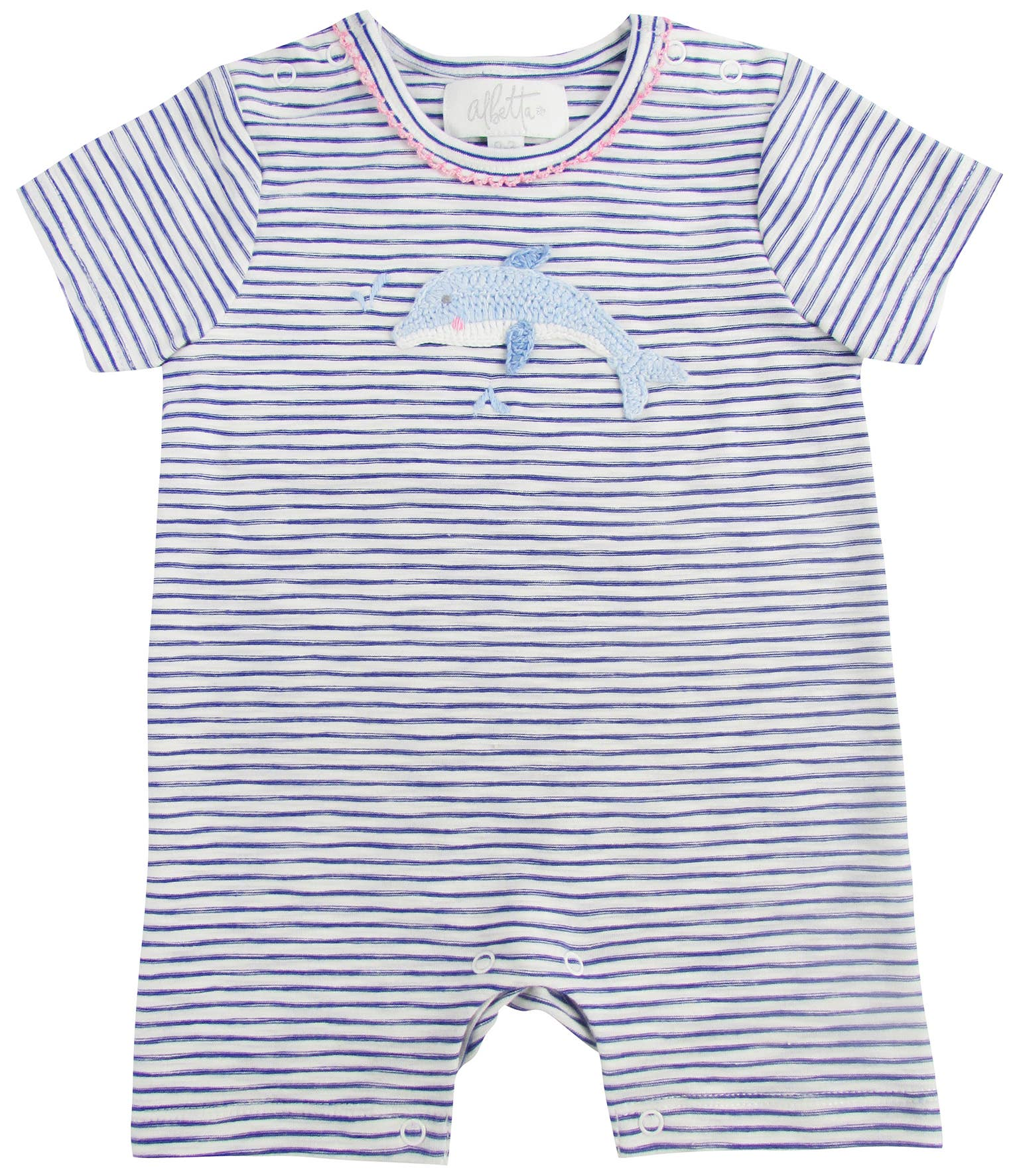 Cool Dolphin Drinking Margarita Baby Boys Or Girls 100/% Organic Cotton Jumpsuit Outfit 0-2T