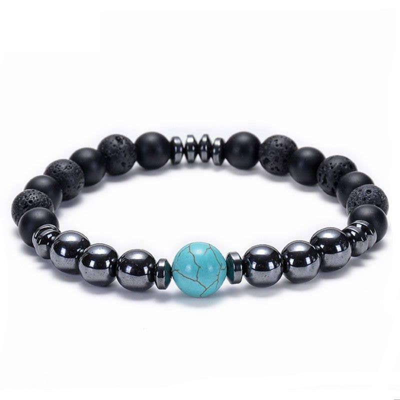 Stretch Kids Mala Bracelet Full Moon Quartz Bracelet Diffuser Bracelet Healing Hematite /& Lava Stone Bracelet Crackle Quartz Bracelet