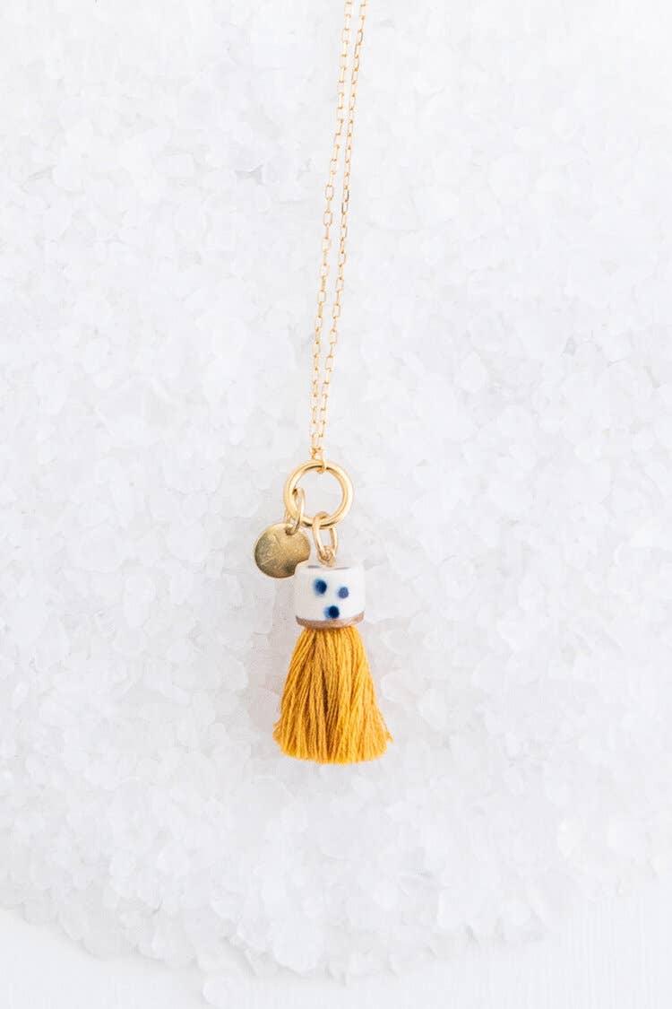 Marigold Mini Tassel Necklace