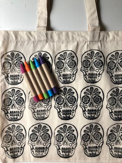 Dahlia Color Your Own Market Tote Kit