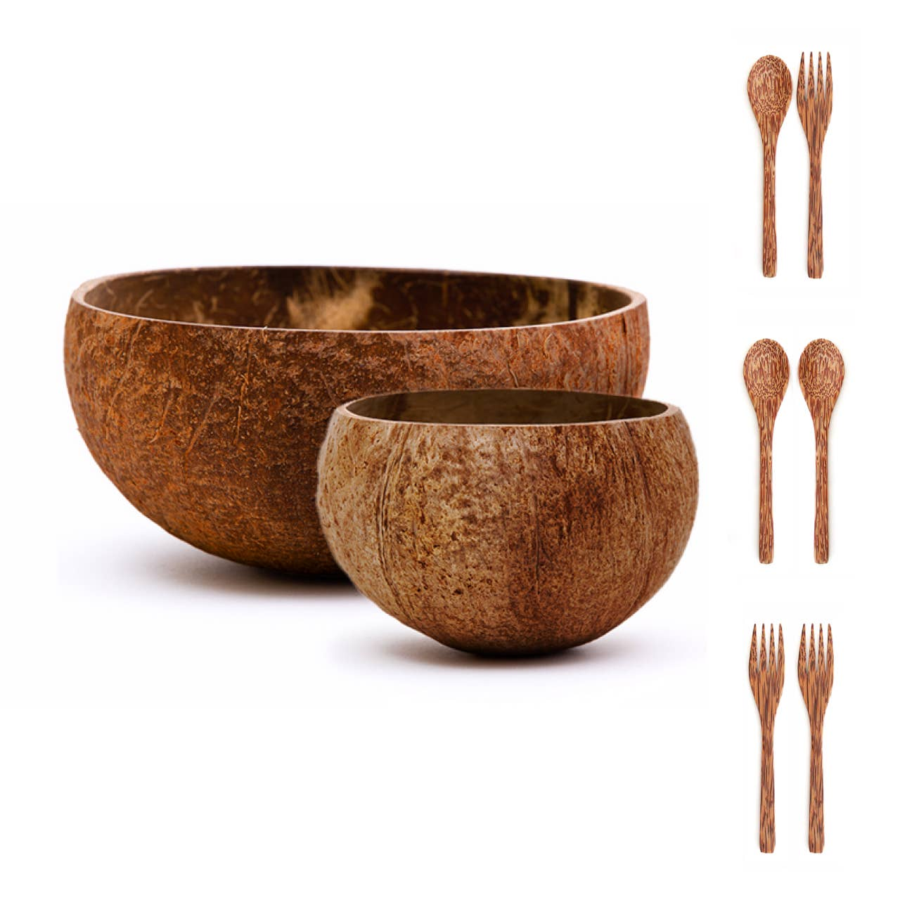 wood chopsticks wood bowl set natural bowl set Handmade Coconut Bowl Set fair trade bowl wood spoon coconut bowl fair trade