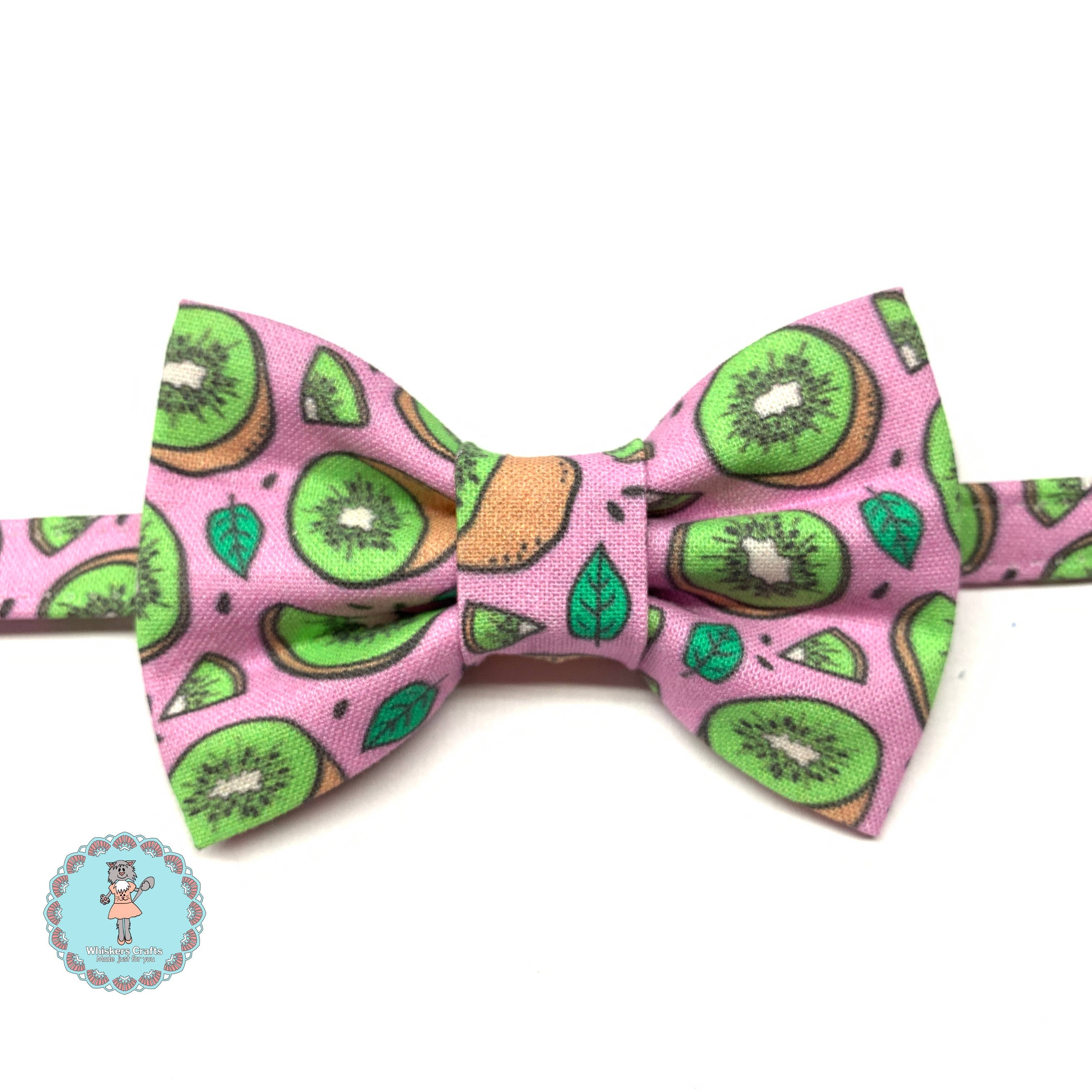 Purple dog bow tie collar Pet wedding Lavender heart charm birthday gift Polka dots