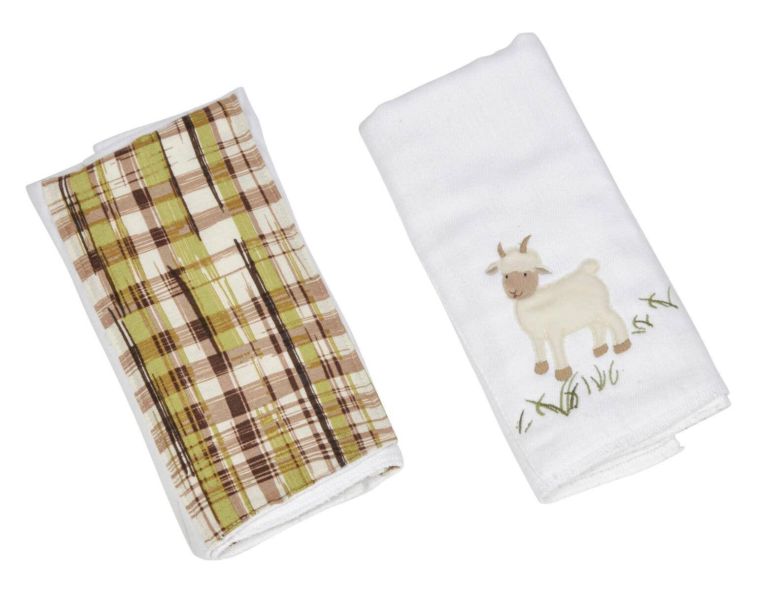 Maison Chic Double Burp Cloth Gift Set Cocoa The Bear