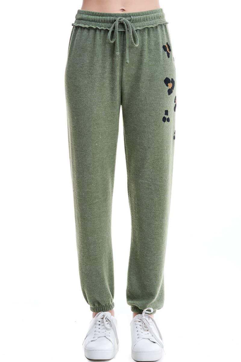 Maronie Womens Brushed Zebra Print Sweatpants Joggers