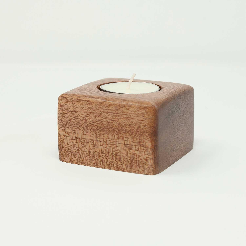 JoyJolt Ambient Tea Light Candle Holders Clear Glass Single Candle Holder