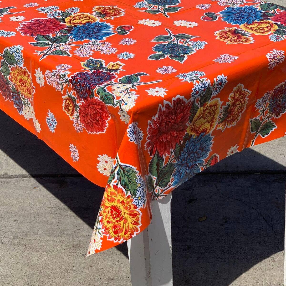 Fuji on Orange Oilcloth