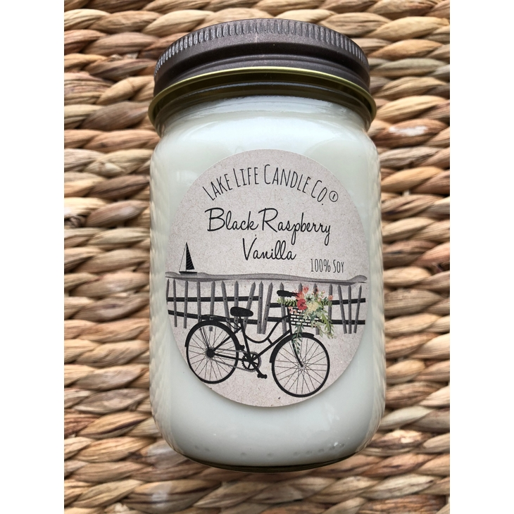 Lake Life Co. - Wholesale Jar/Filled Candle - Black Raspberry Vanilla Candle Market Collection on Faire.com