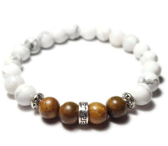 Howlite Healing Stone Bali Bead Spacer Healing Stone Bracelet One Of A Kind