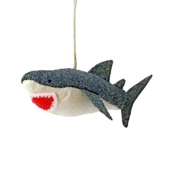 17 cm Handmade Recycled metal Shark wall hanging decoration