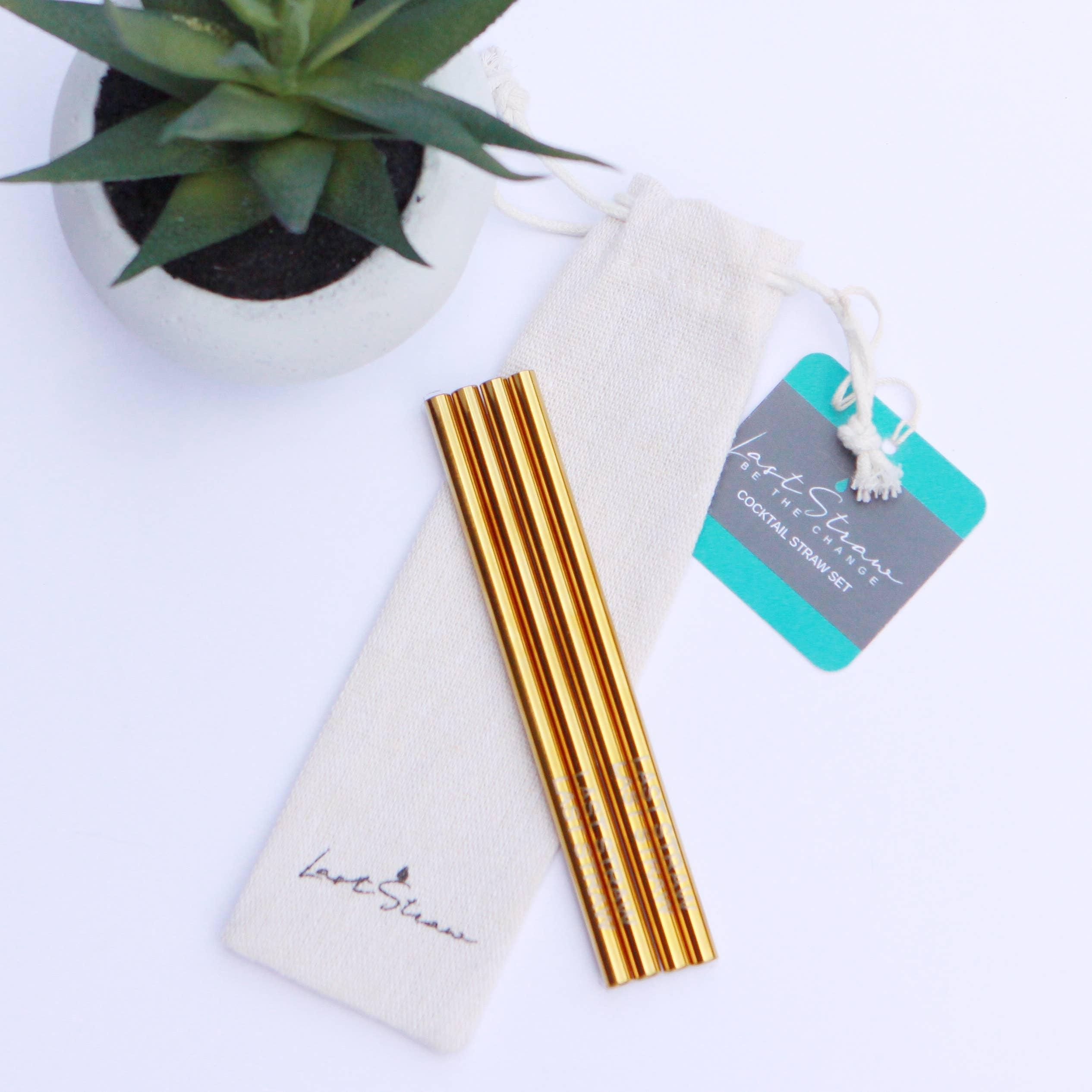 Last Straw – Cocktail Straw Set-4pc