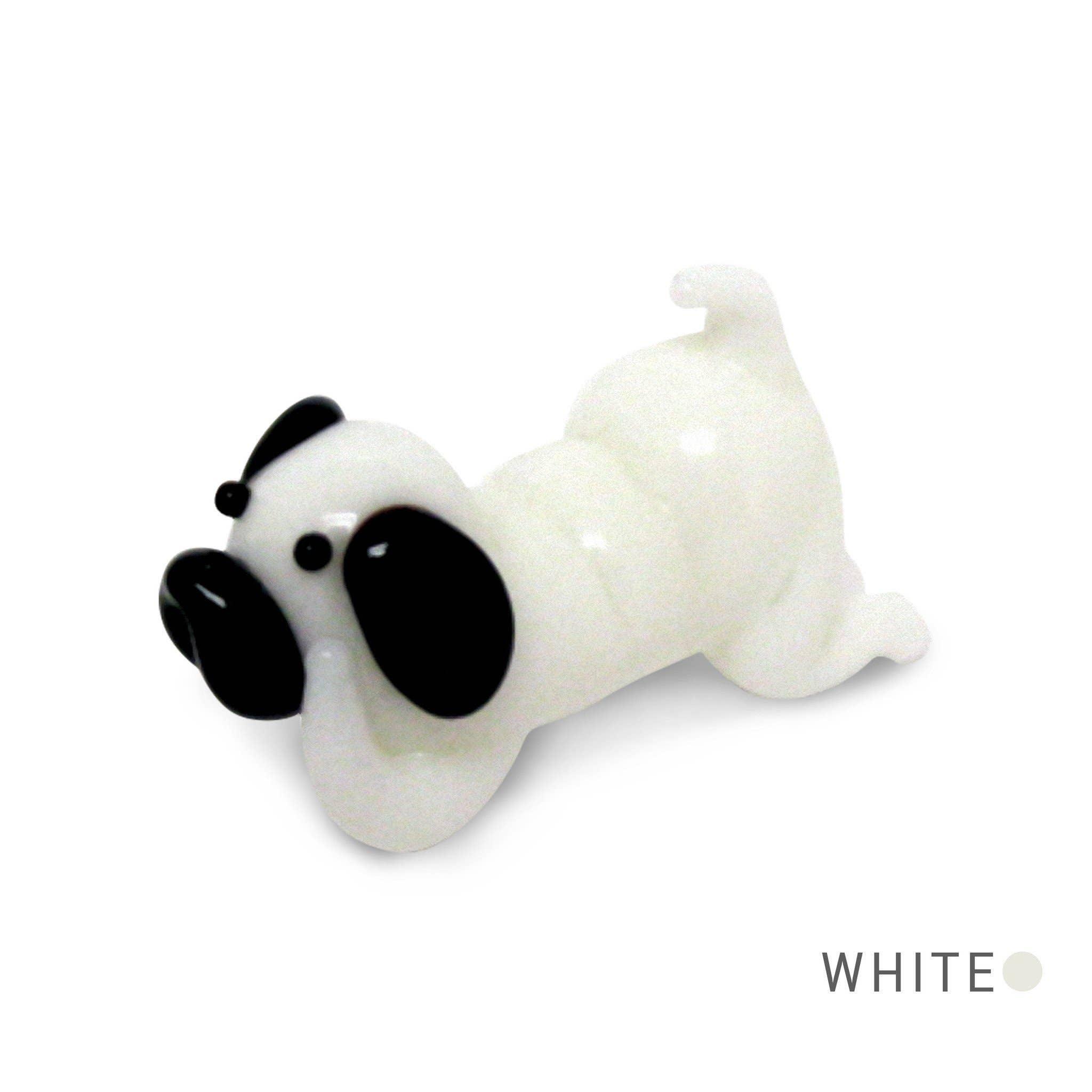 Colorful dog glass figurine Handmade