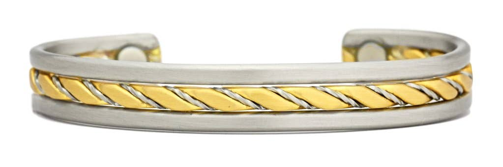 White and Yellow Double Loop Greek Copper Belt