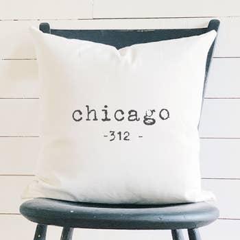 Customizable Zip Code Cotton Canvas Pillow Faire Com