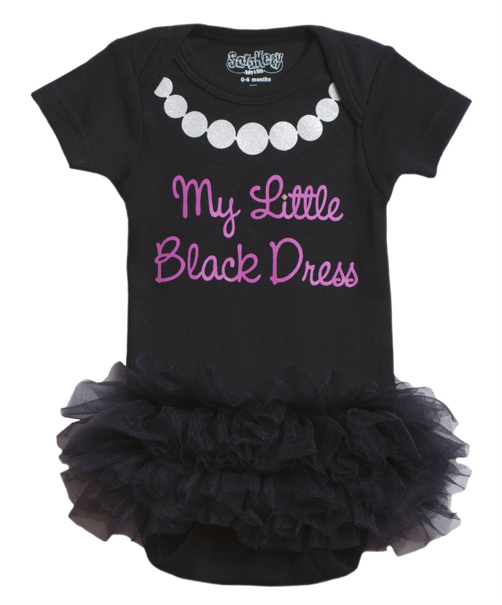 0-6 Months Black, Baby My Little Black Dress Onesie