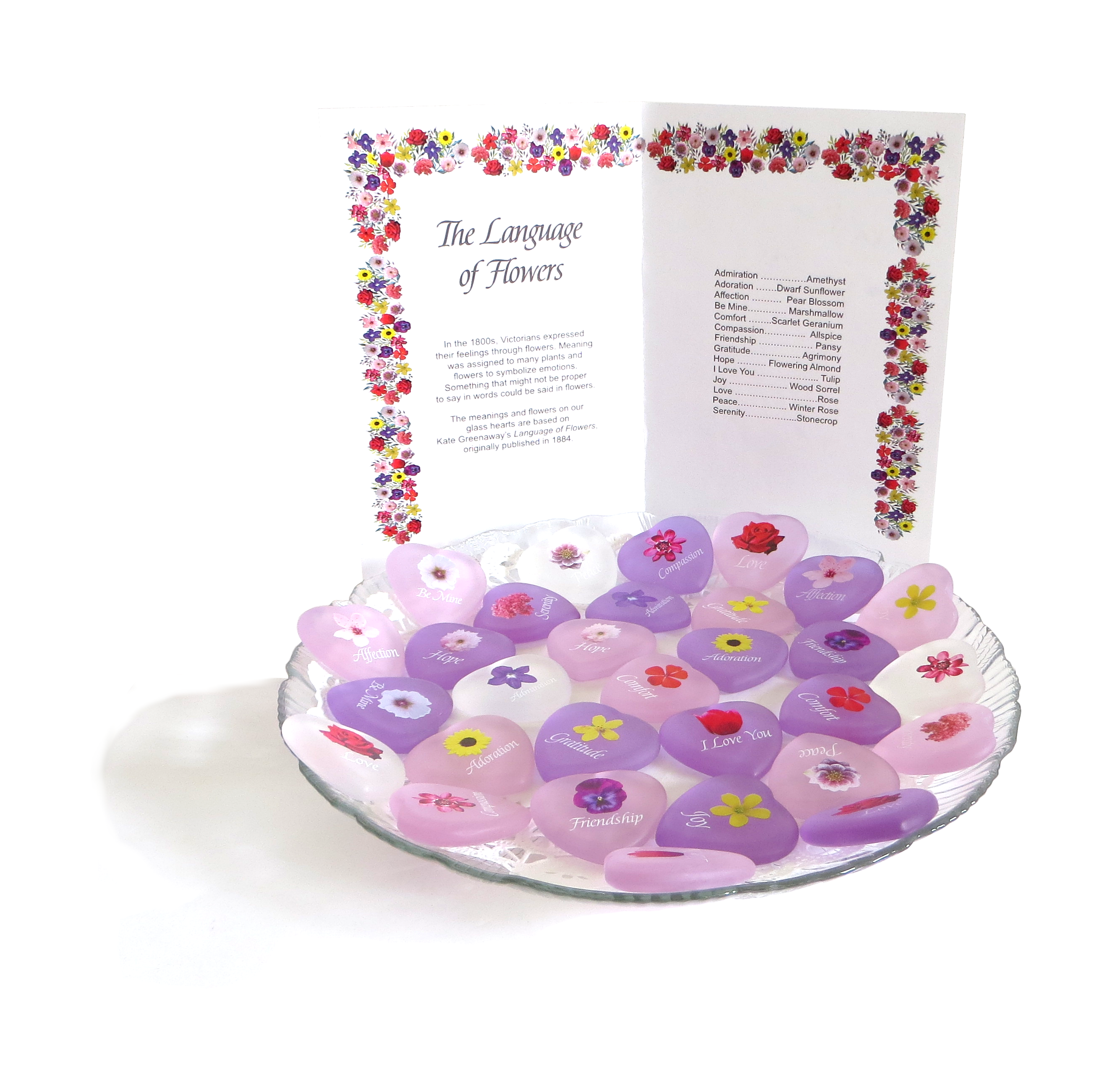 Lilac Lifeforce Glass A Glass Heart with Sheer Pouch to Show Your Mom How Special She is to You Inc.